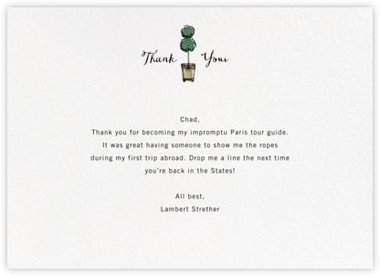 Ansonia Terrace - Paperless Post - General thank you notes
