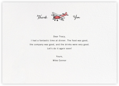 Kitty Hawk - Paperless Post - General thank you notes