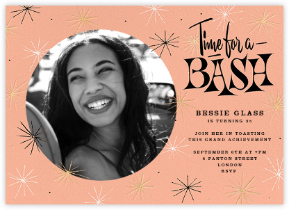 Sparkling and Swinging (Photo) - Paperless Post - Adult birthday invitations