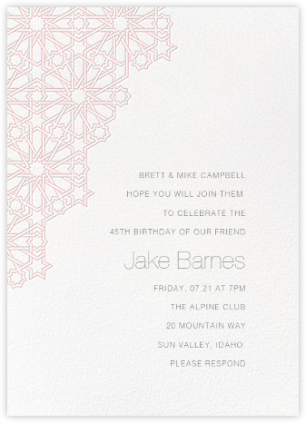 Medina - Pavlova - Paperless Post - Adult birthday invitations