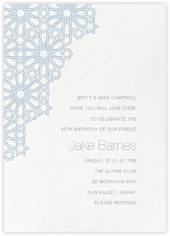 Medina - Spring Rain - Paperless Post - Adult Birthday Invitations