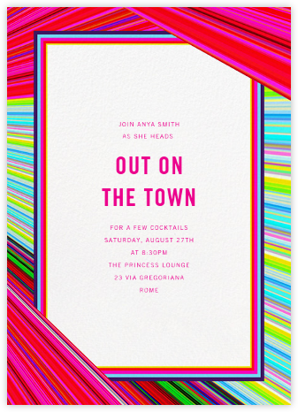 Rainbow Stripe - Mary Katrantzou - Summer Party Invitations