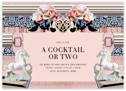 Powdy - Mary Katrantzou - Adult Birthday Invitations