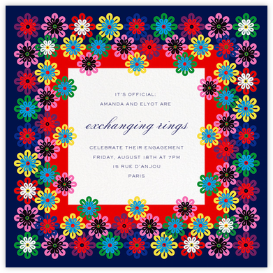 Flower Rainbow - Mary Katrantzou - Engagement party invitations
