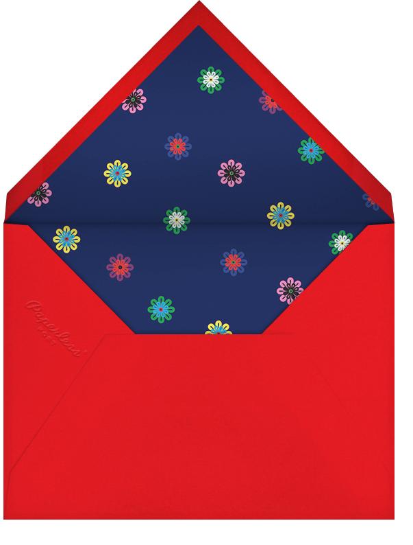 Flower Rainbow - Mary Katrantzou - Adult birthday - envelope back