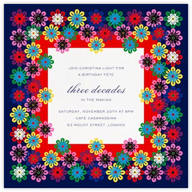 Flower Rainbow - Mary Katrantzou - Adult Birthday Invitations