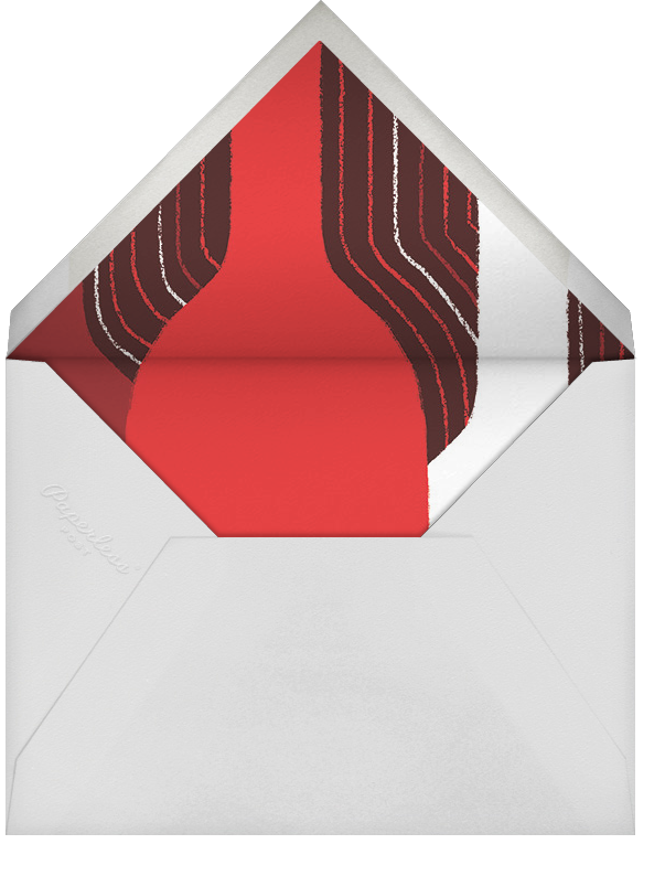 Pour You - Red - Paperless Post - Adult birthday - envelope back