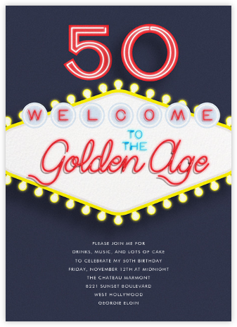 Birthday in Vegas - Paperless Post - Adult Birthday Invitations