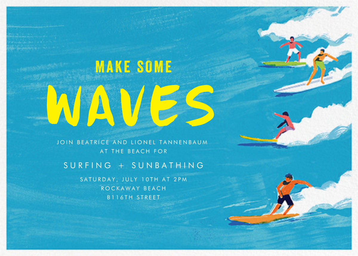 Make Some Waves - Paperless Post - Summer entertaining invitations