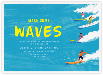 Make Some Waves - Paperless Post - Summer Party Invitations