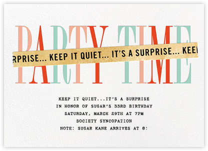 surprise party invitations - online and paper - paperless post, Birthday invitations