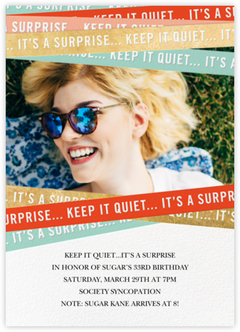 Do Not Break Seal (Photo) - Paperless Post - Adult birthday invitations