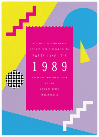 Totally Rad - Paperless Post - Adult Birthday Invitations