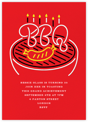 The Grillmeister - Paperless Post - Adult Birthday Invitations