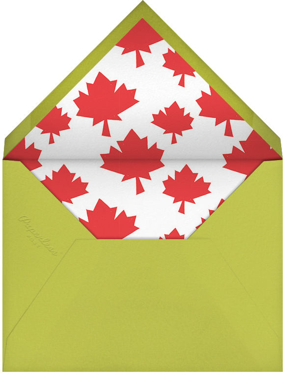 Cottage Country Retreat - Paperless Post - Summer entertaining - envelope back