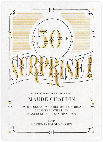 The Gilded Age (Fifty) - Paperless Post - 50th Birthday Invitations