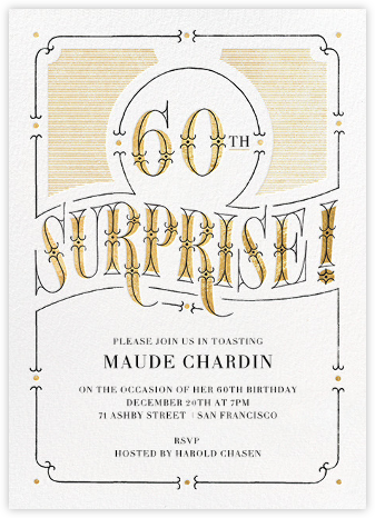 The Gilded Age (Sixty) - Paperless Post - Surprise Party Invitations