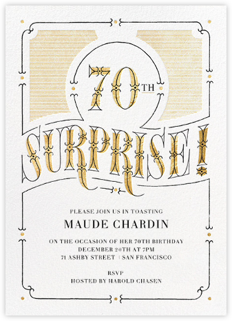 The Gilded Age (Seventy) - Paperless Post - Milestone birthday invitations