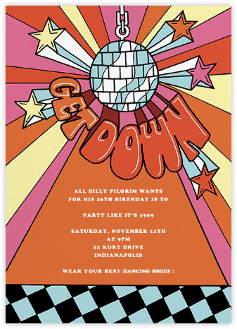 Boogie Down Birthday - Paperless Post - Adult Birthday Invitations