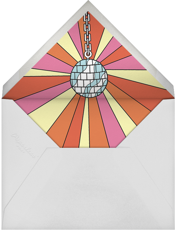 Boogie Down Birthday - Paperless Post - Adult birthday - envelope back