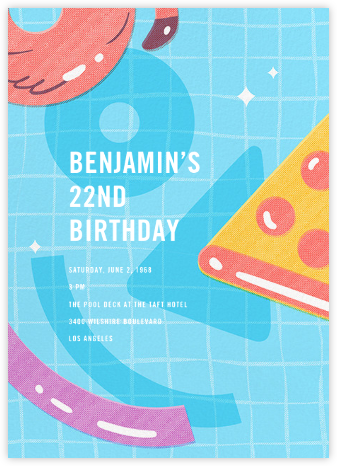 Floats Go By - Paperless Post - Adult Birthday Invitations