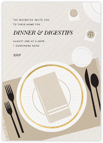 Places, Please - Paperless Post - Dinner party invitations