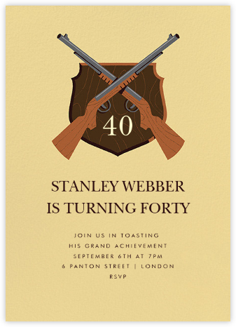 Stag Hunt - Paperless Post - Adult birthday invitations