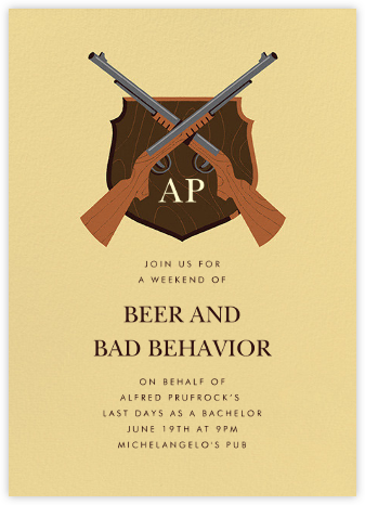 Stag Hunt - Paperless Post - Bachelor party invitations