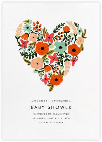 Heart of Plenty - Rifle Paper Co. - Baby Shower Invitations