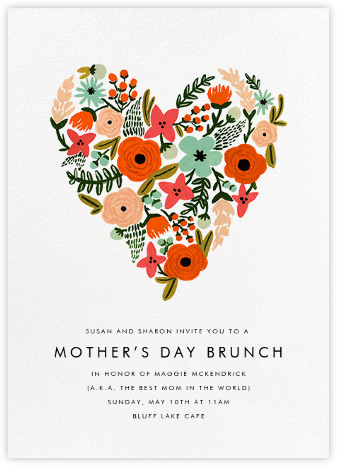 Heart of Plenty - Rifle Paper Co. - Online Mother's Day invitations
