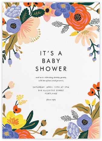 Vivid Florals - Rifle Paper Co. - Online Baby Shower Invitations