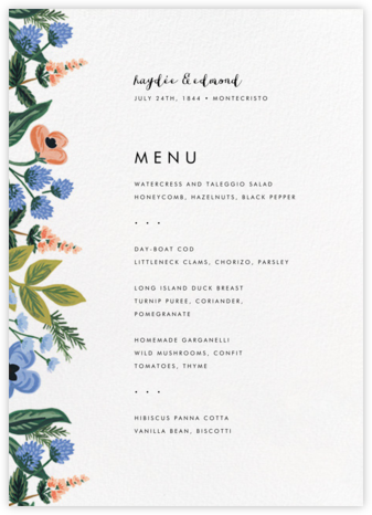 August Herbarium (Menu) - Rifle Paper Co. - Wedding menus and programs - available in paper