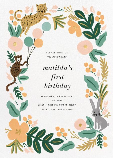 Festive Fauna - Rifle Paper Co. - Kids' birthday invitations