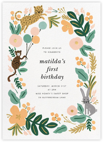 Festive Fauna - Rifle Paper Co. - Online Kids' Birthday Invitations