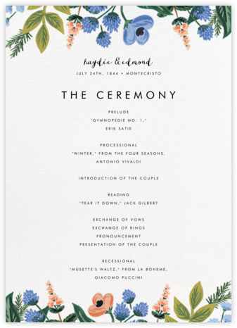 August Herbarium (Program) - Rifle Paper Co. - Wedding menus and programs - available in paper