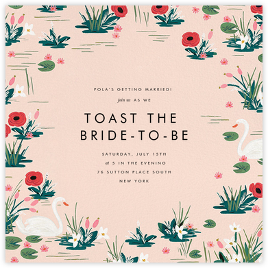 Swan Pond - Meringue - Rifle Paper Co. - Bridal shower invitations