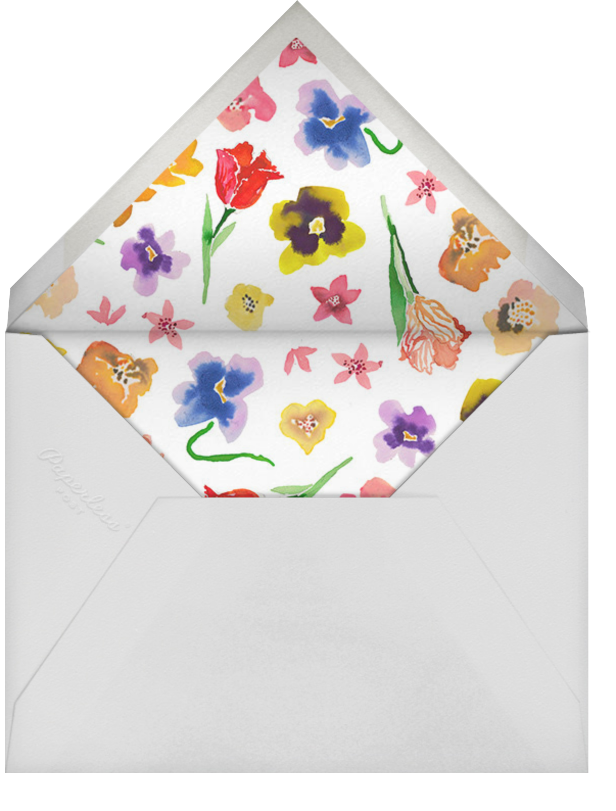 Tea Garden - Happy Menocal - Wedding brunch - envelope back