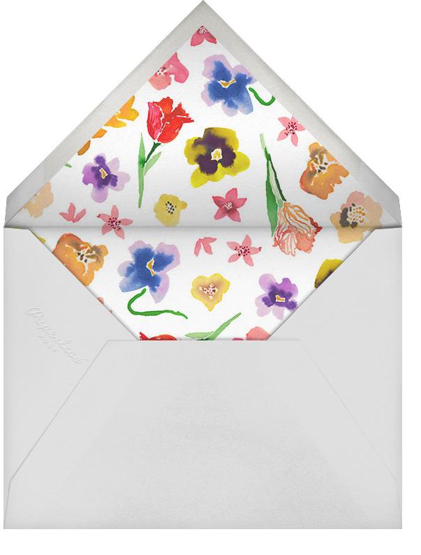 Tea Garden - Happy Menocal - Bridal shower - envelope back