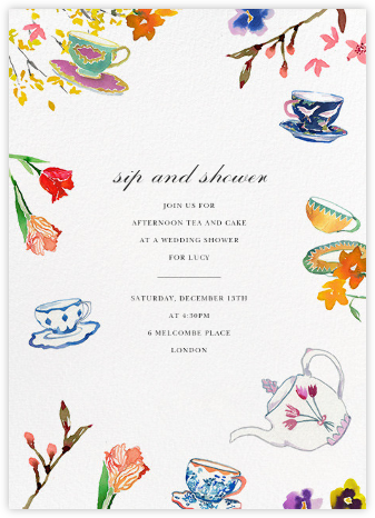 Tea Garden - Happy Menocal - Bridal shower invitations