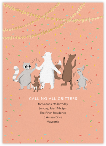 Furfetti - Sherbet - Paperless Post - Online Kids' Birthday Invitations