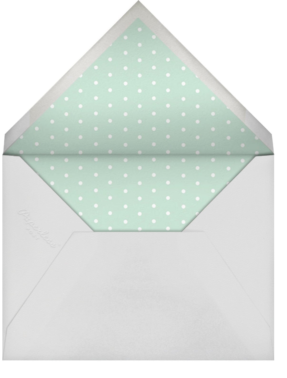 Bunny, Bear, and Baby (Photo) - Mint - Rifle Paper Co. - Woodland baby shower - envelope back