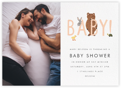 Bunny, Bear, and Baby (Photo) - Peach - Rifle Paper Co. - Rifle Paper Co.