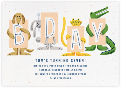 Welcoming Committee - Paperless Post - Birthday invitations