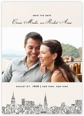City Lights II (Photo Save the Date) - kate spade new york - Save the dates