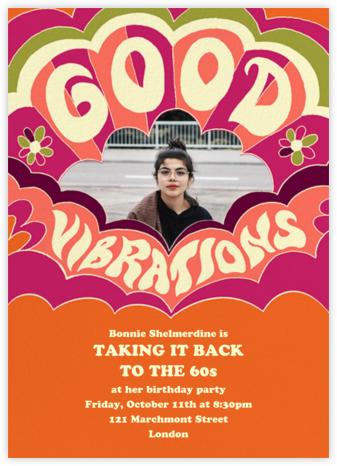 Good Vibes - Paperless Post - Birthday invitations