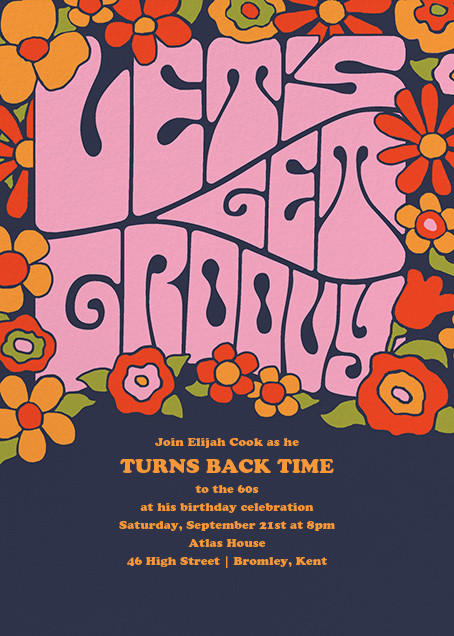 A Very Groovy Evening - Paperless Post - Adult birthday invitations