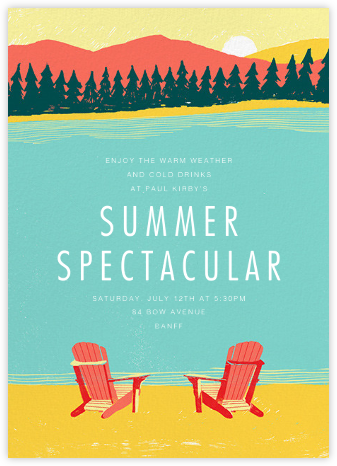 Muskoka Sunset - Paperless Post - Summer entertaining invitations