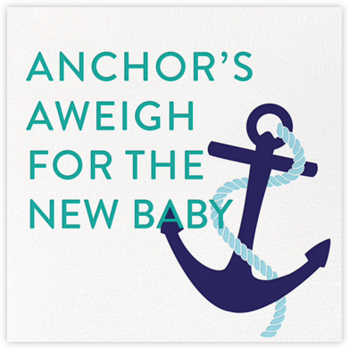 Little Sailor - Jonathan Adler - Baby Shower Invitations
