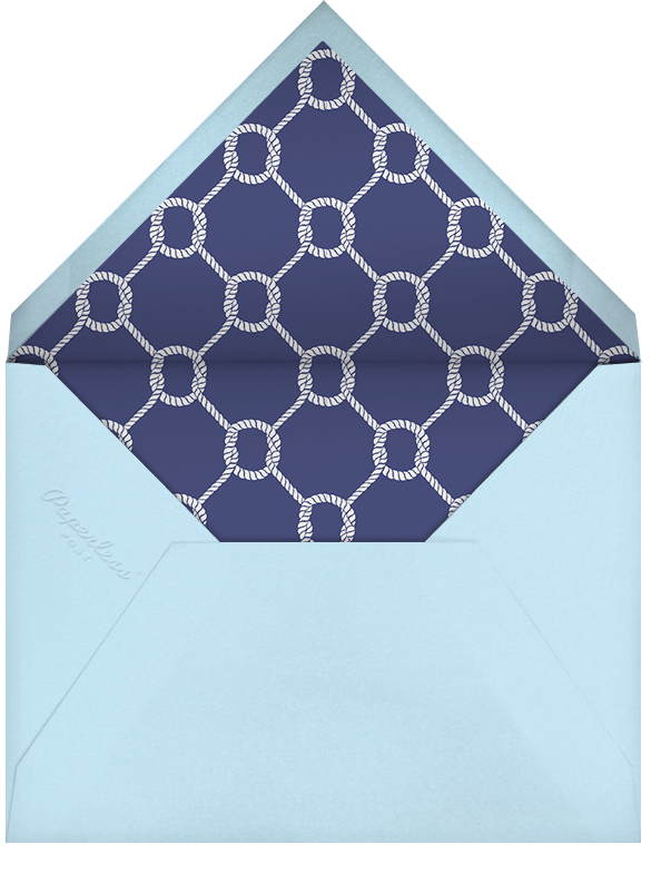 Little Sailor - Jonathan Adler - Baby shower - envelope back