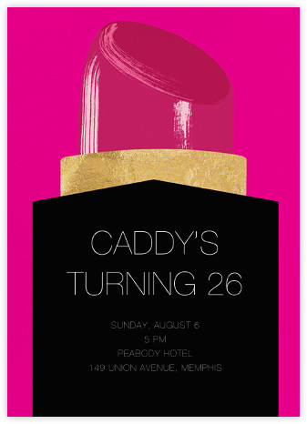 Lippy - Paperless Post - Adult Birthday Invitations